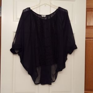 DOLCE VITA BLACK LACE FRONT HI- LO TOP - LIKE NEW